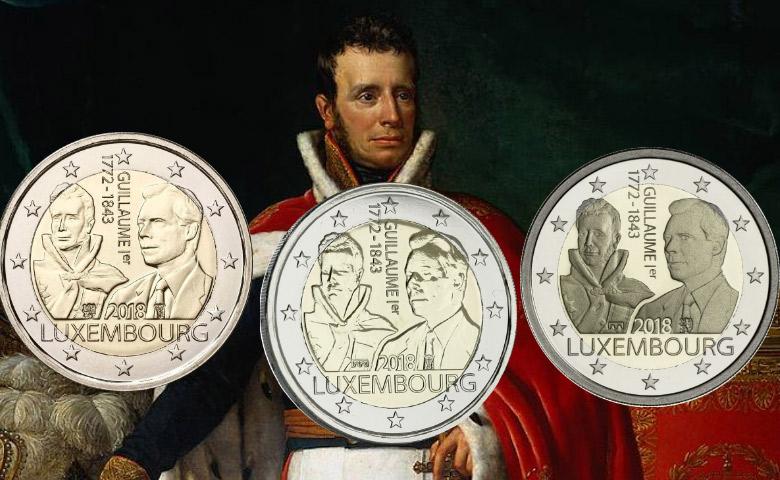 Les différents sur la nouvelle 2 euros Luxembourg 2018