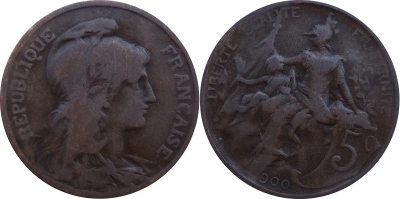 5 Centimes Dupuis 1900