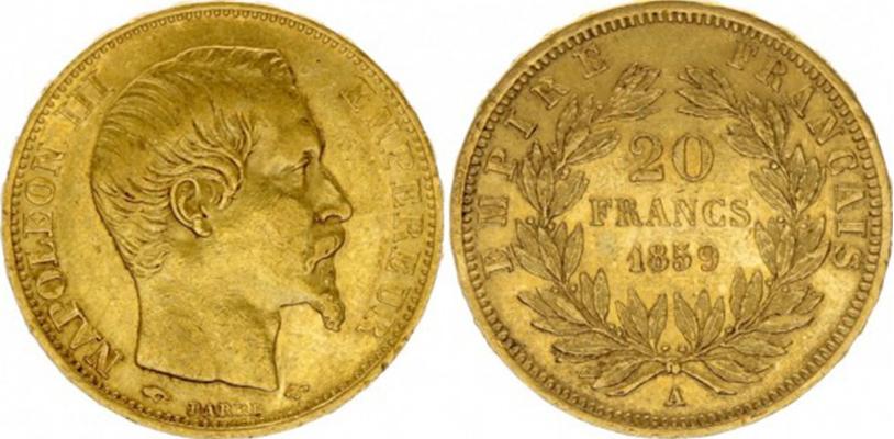 20 Francs Or 1859