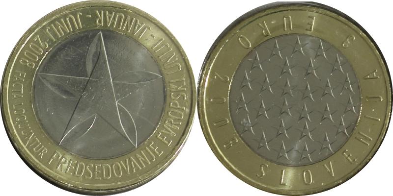 3 Euros 2008 Slovénie