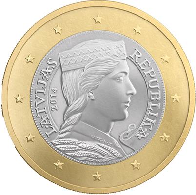 1 euro Lettonie 2014