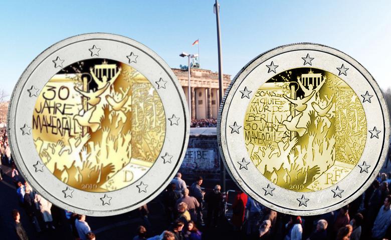 2 euros Allemagne 2019 Chute du Mur de Berlin