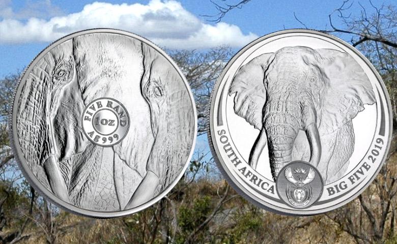 Un bullion Éléphant pour le Big Five de l'Afrique du Sud