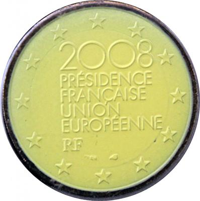 2 euros 2008 France Couleur