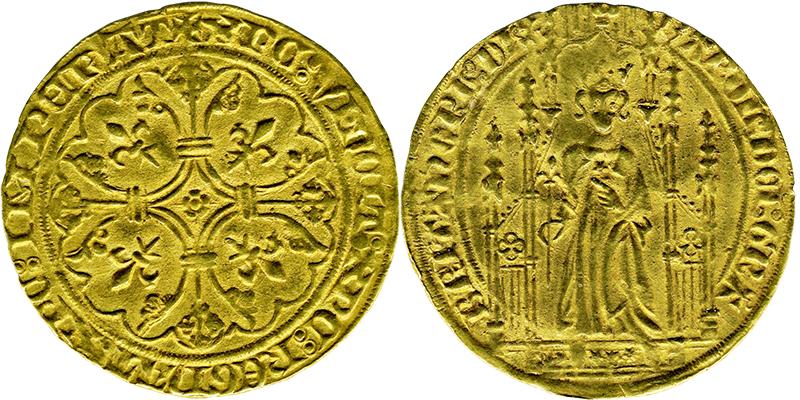 Imitation du royal d'or frappée en 1358   © Musée Dobrée - Nantes
