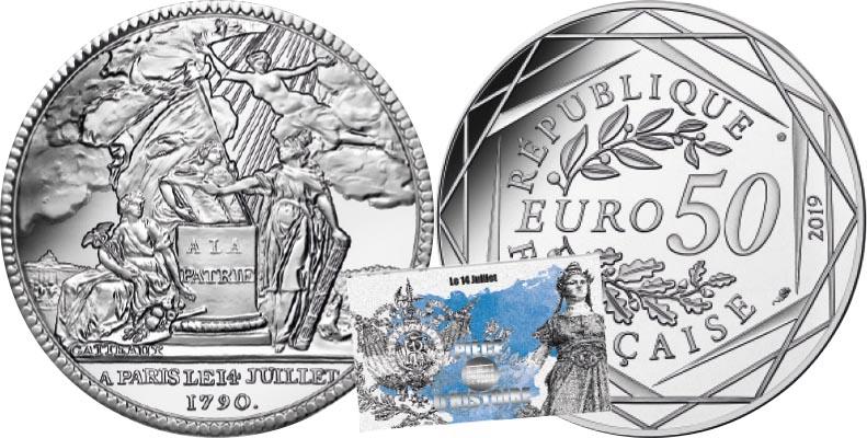 50 euros Argent - 14 Juillet