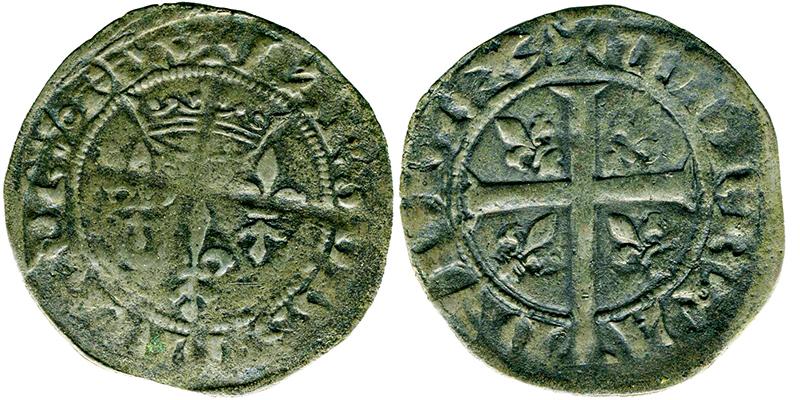 Imitation du double tournois du 9e type frappée en 1359 © Musée Dobrée - Nantes