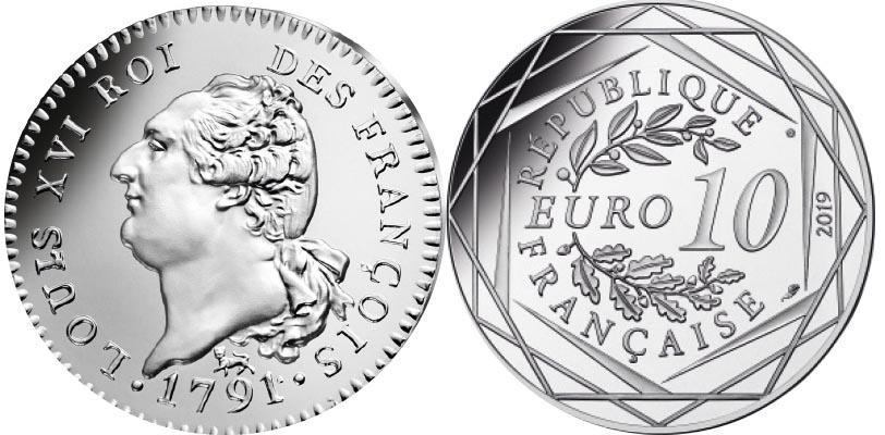 10 euros Argent - Louis XVI
