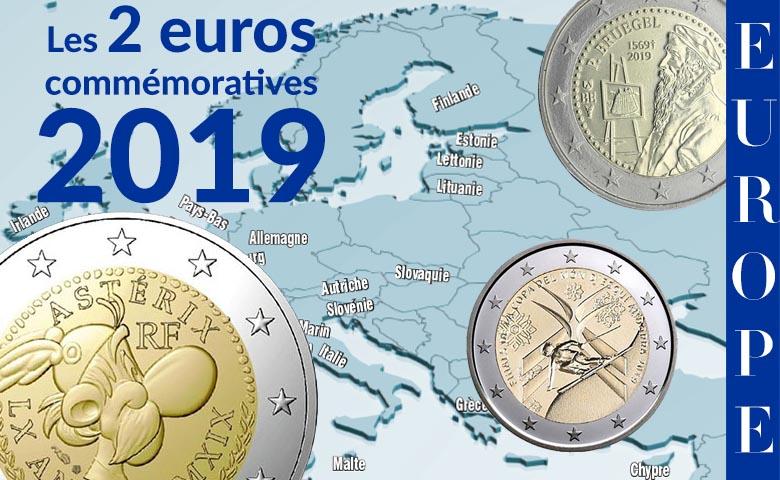 Les 2 Euros Commémoratives 2019 (MÀJ 8 avril 2019)