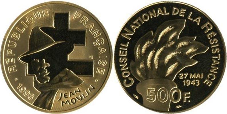 500 Francs or 1993