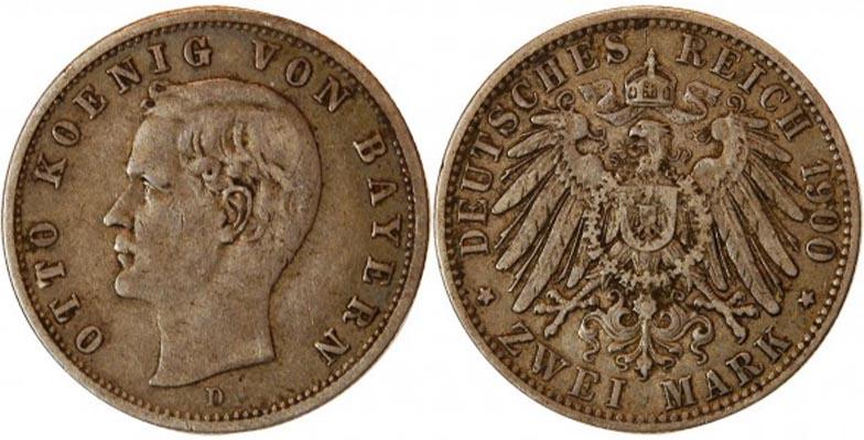 2 Marks argent 1900