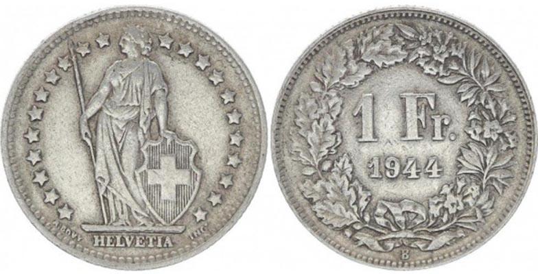 1 Franc Suisse 1944