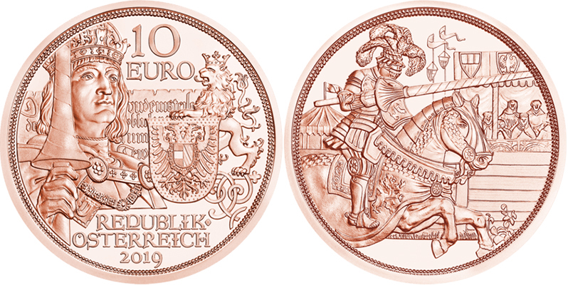 10 Euros Cuivre Chevaliers