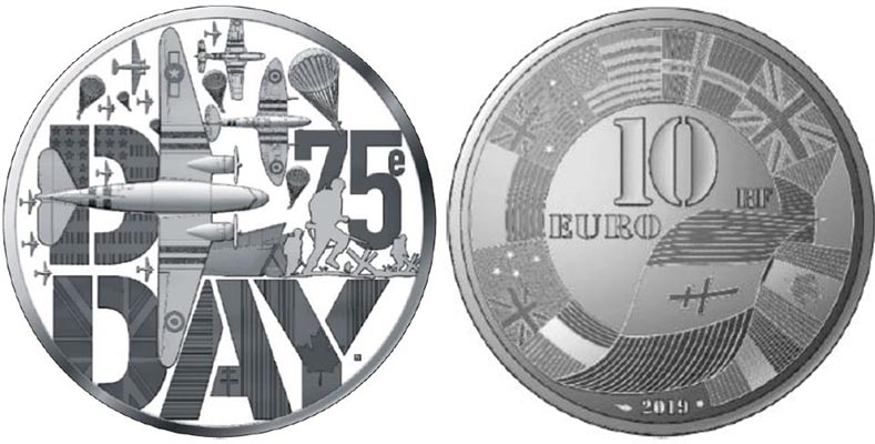 10 € Argent BE - D-Day