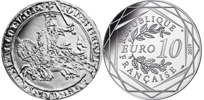 10 euros Argent - Guerre de 100 ans