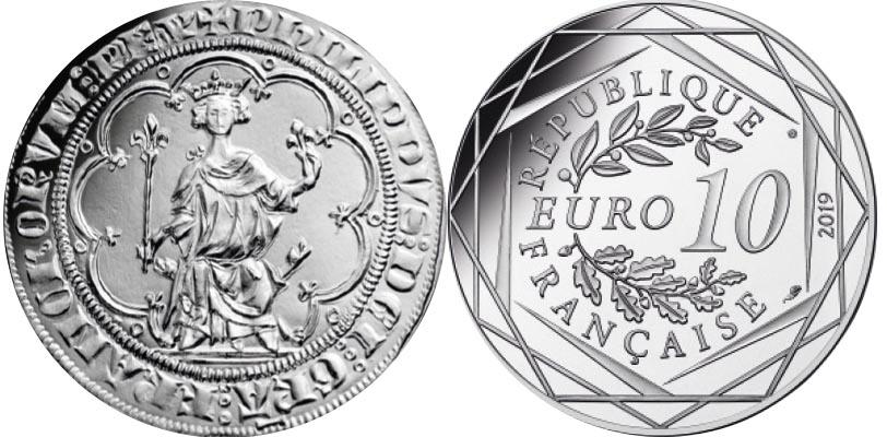 10 euros Argent - Les Templiers