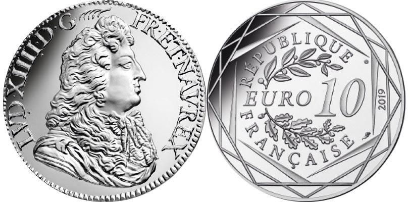 10 euros Argent - Louis XIV