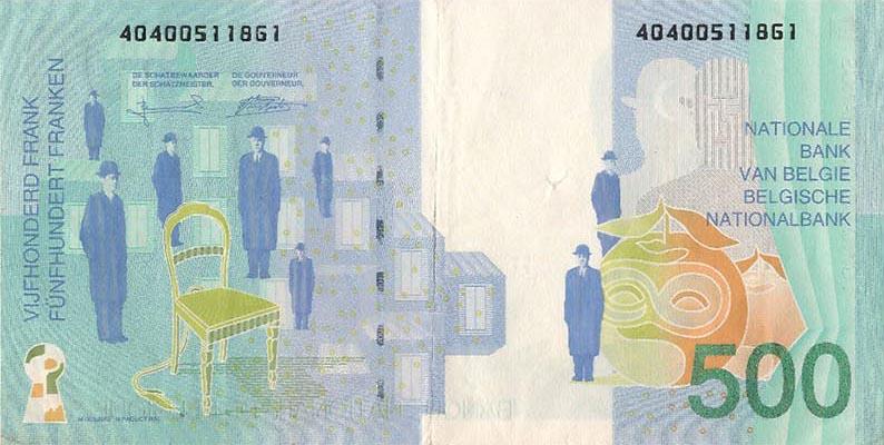 500 Francs Belgique 1998