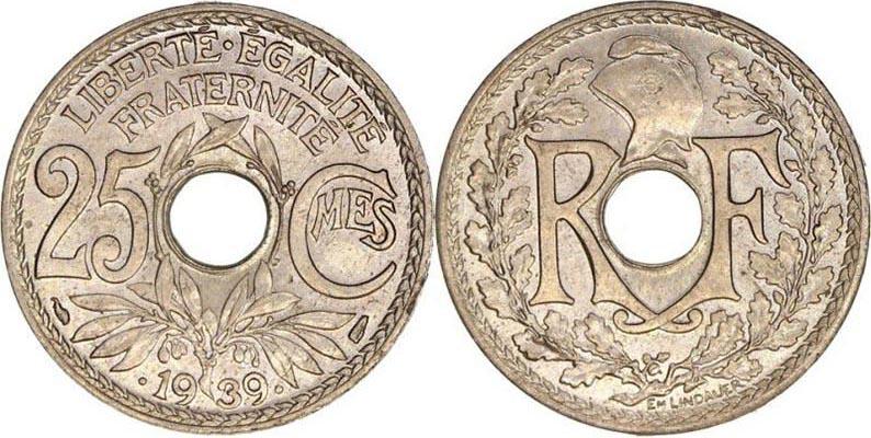 50 centimes Lindauer 1939