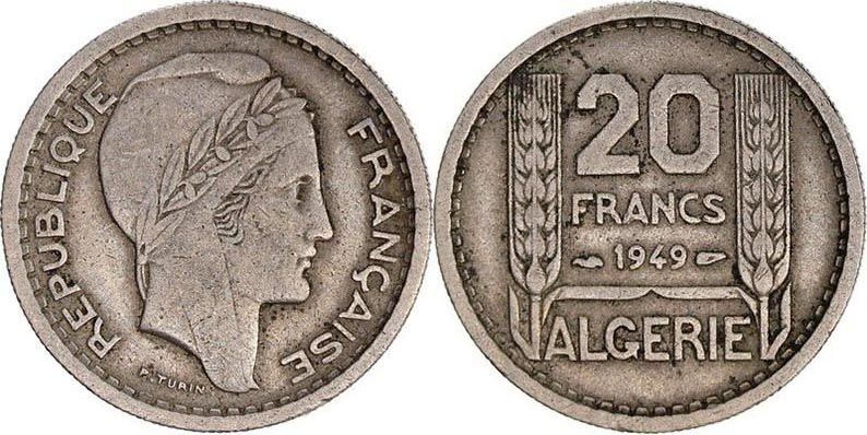 20 Francs Algérie 1949