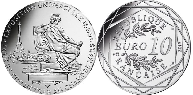 10 euros Argent - Exposition Universelle de 1889