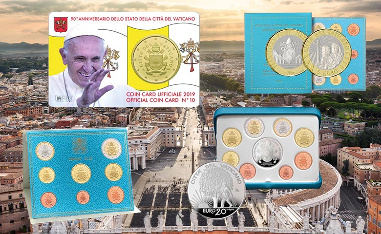 Sortie des Coffrets euro Vatican 2019