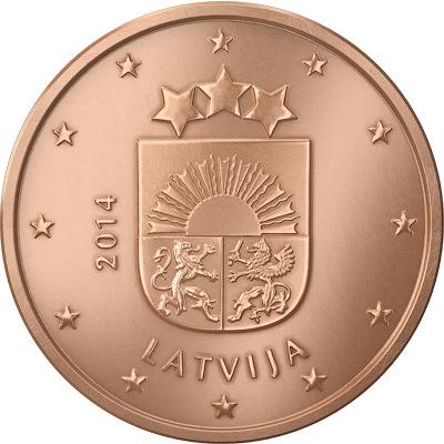 1 cent Lettonie 2014