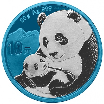 Bullion Panda Space Blue Argent