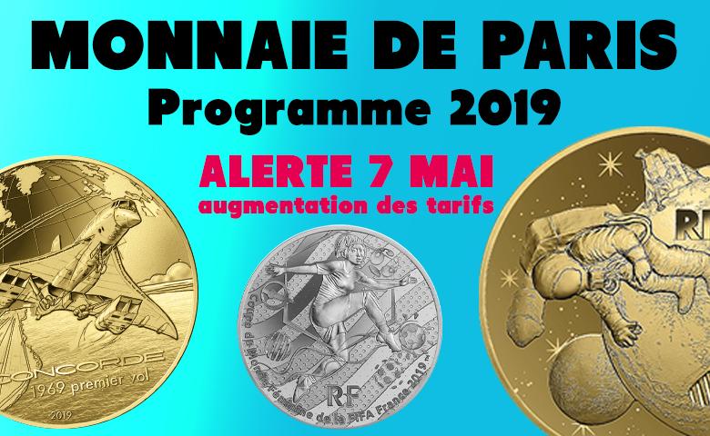 FRANCE : le programme monétaire 2019 (mis à jour le 9 avril)