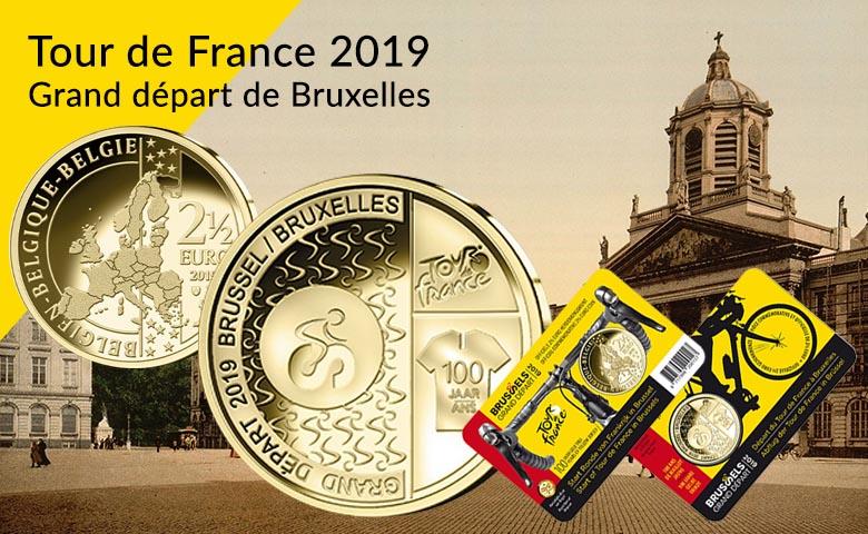 2,5 euros Belgique 2019 - Tour de France, grand départ de Bruxelles !