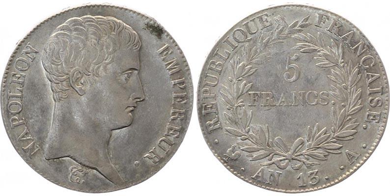 5 Francs France An 13