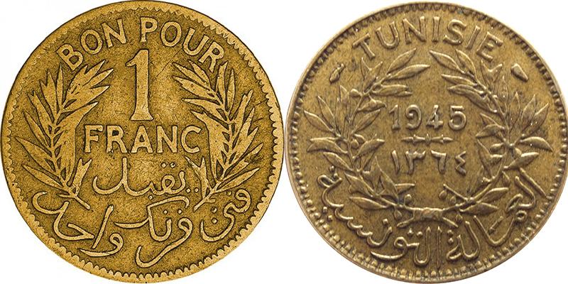 Courrier du lecteur - Bon pour 1 Franc Tunisie 1945