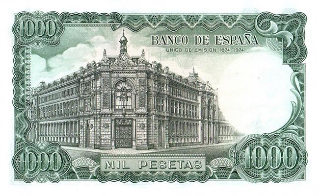Courrier du lecteur - 1 000 Pesetas Espagne 1971