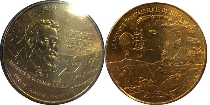 1/4 euro France 2005