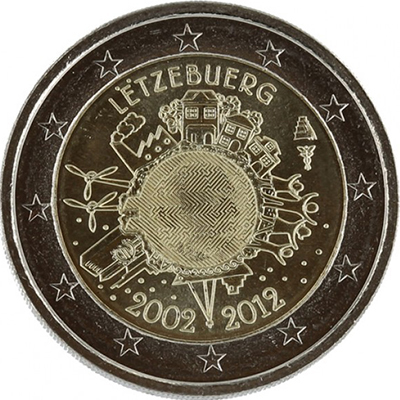 2 euros Luxembourg 2012