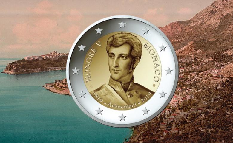 Monaco célèbre en 2019 Honoré V avec une 2 euro