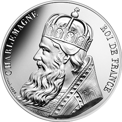 Vague 2 - 10 euros argent Charlemagne