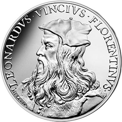 Vague 2 - 10 euros argent Léonard de Vinci