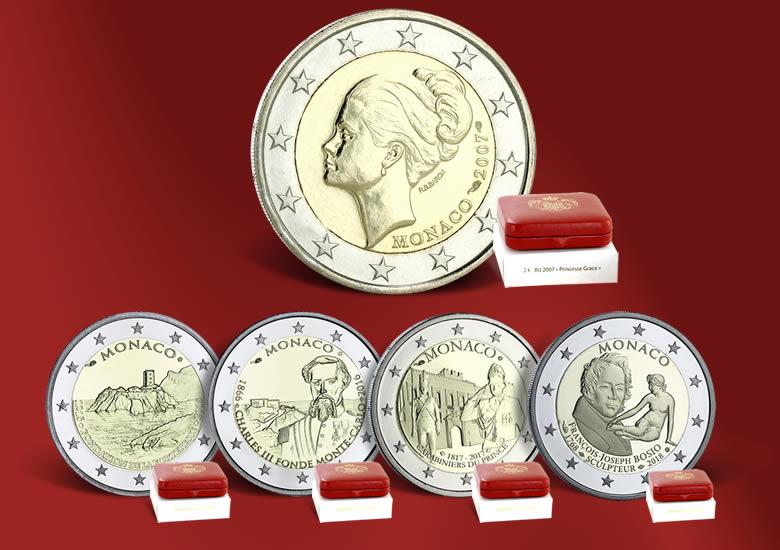 La collection des monnaies Euro de Monaco (de 2005 à nos jours)