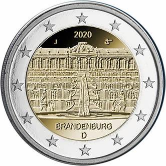 """Pièces Brandenburg - Le palais Sanssouci"""" à Potsdam"""
