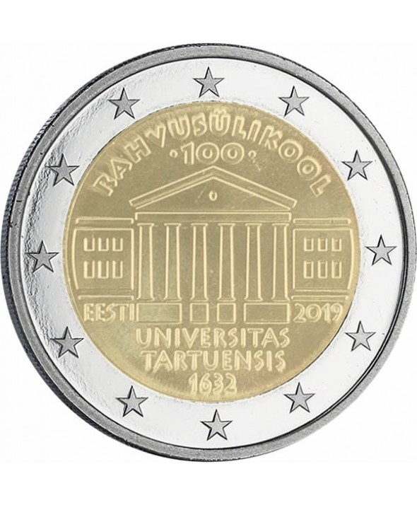 2 euros commémo. Estonie 2019 - 100 ans université de Tartu