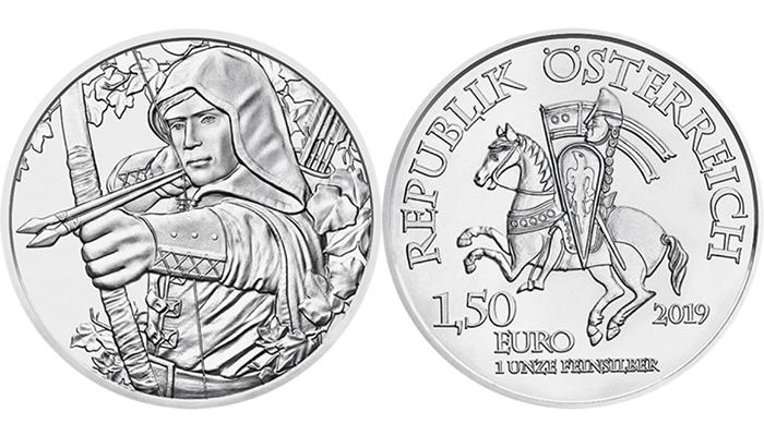 Robin des bois - 1,5 euros Argent Autriche 2019