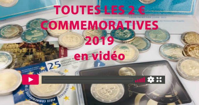 Toutes les pièces de 2€ commémoratives 2019