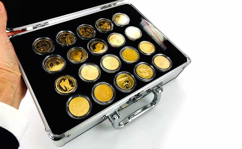 grande vente 2020 - 134 pièces en or 1/4 d'once et 1/2 once