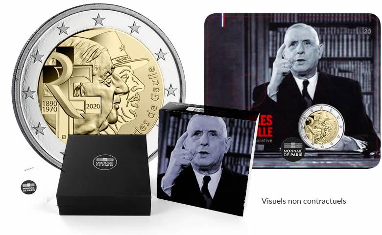 2 euro Charles de Gaulle 2020