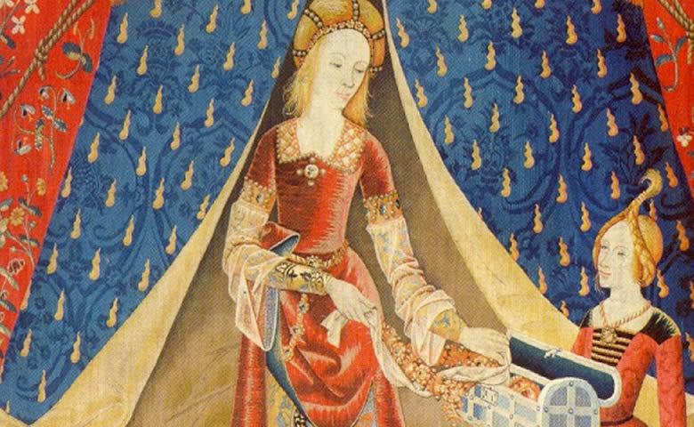 La Dame à la licorne est une série de six tapisseries datant du XVe siècle, que l'on peut voir au musée national du Moyen Âge et illustrent des sens.