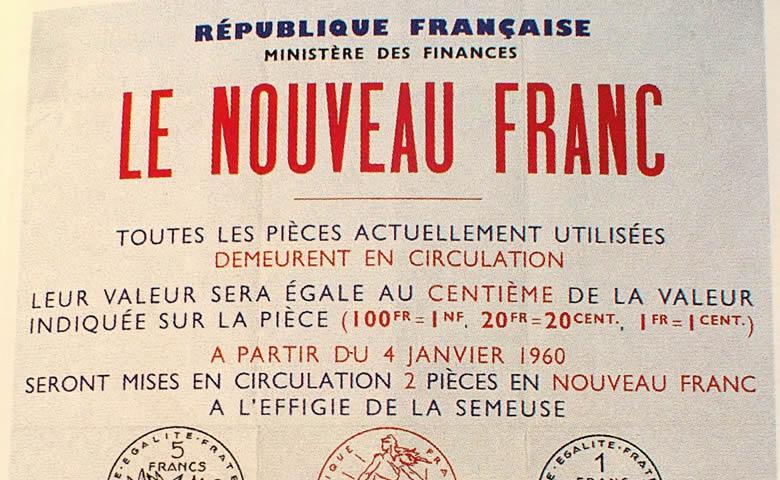 1960, les premières pièces en Nouveau Franc