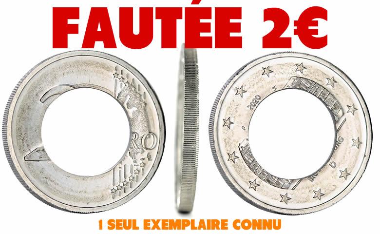 Très rare 2€ fautée Allemagne 2020