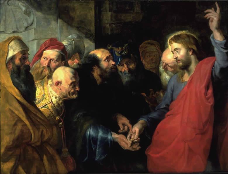 """""""Le Christ et le denier de César"""" Rubens"""