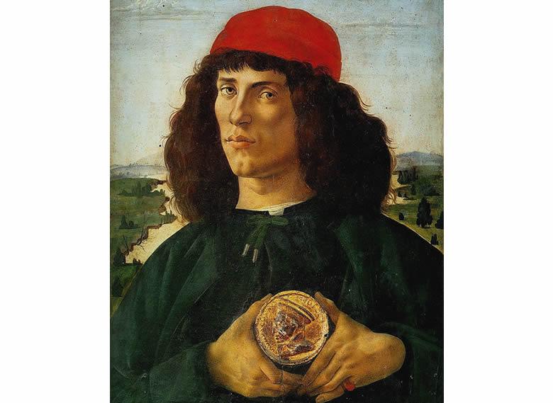 """""""Portrait d'homme avec médaille de Cosme l'ancien"""" Sandro Botticelli"""